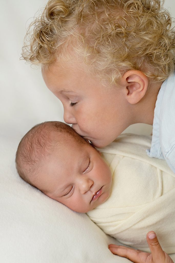 Newborn fotografie broer zus